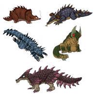 Pangolin Dragons by sleepyotter