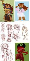 Character Doodle Dump #1 by sleepyotter