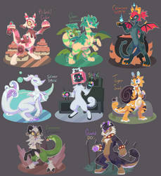 OPEN:Guest Chimereon Adopts 2 by Pand-ASS