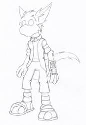 Sketch - Enigma by hunterbahamut