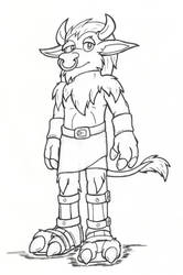 Concept - Argus the Minotaur by hunterbahamut