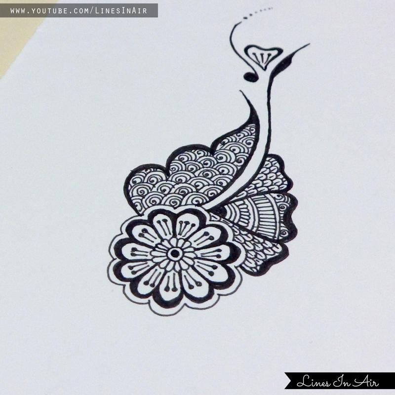 Easy Henna Mehndi Design By Linesinair On Deviantart