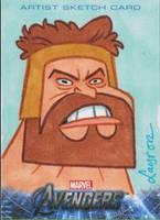 Upper Deck Avengers movie sketch card Hercules by DeJarnette