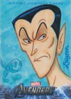 Upper Deck Avengers movie sketch card Sub Mariner by DeJarnette