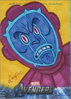 Upper Deck Avengers movie sketch card Kang by DeJarnette