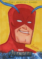 Upper Deck Avengers movie sketch card Giant Man by DeJarnette