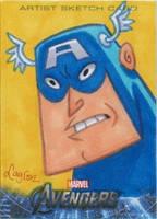 Upper Deck Avengers sketch card Captain America by DeJarnette