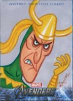 Upper Deck Avengers movie sketch card Loki 1 by DeJarnette