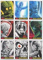 Mars Attacks Heritage sketch cards for Topps 03 by DeJarnette