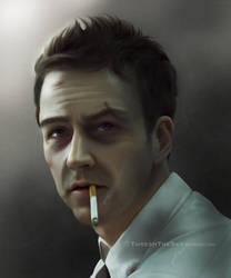 Fight Club: Portrait of Insomnia by ThreshTheSky