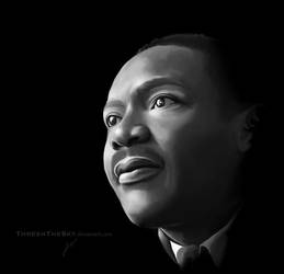 Martin Luther King Jr by ThreshTheSky