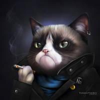 Punky Cat by ThreshTheSky