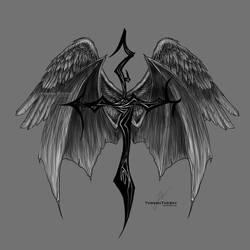 Fallen Angel Tattoo by ThreshTheSky