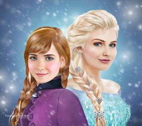 Frozen: Anna and Elsa by ThreshTheSky