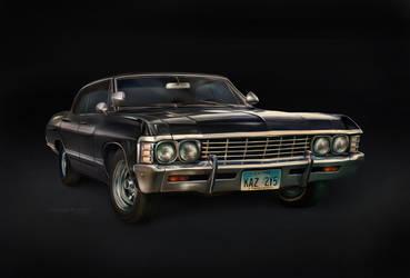 '67 Chevy Impala (digital painting) by ThreshTheSky