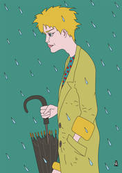 A boy in the rain by SlobodanMilutinovic