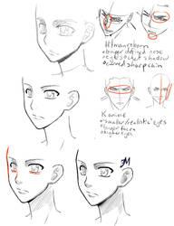 Style study - KHR and K anime by KuraiDraws