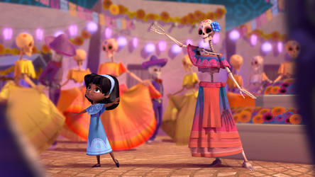 Dia de los Muertos (film still, link below) by wegs