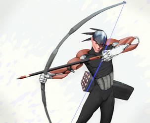 Cyberpunk-archer by flurrys-art