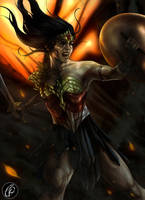 Wonder Woman -Flames- by KGanArt