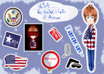 [First try to do stickers] USA by Yara-Art-Studio10