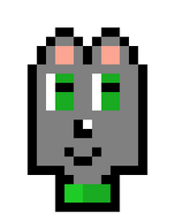 Emerald the Wolf pixel art (gift) by JayDee1201