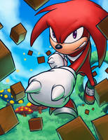 Knuckles the echidna by fenrir2512