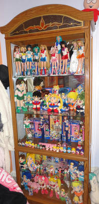 My Sailor Moon Doll Toy And Figure Curio Cabinet By Hamm Sammich On Deviantart