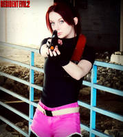 Get Down!-Resident Evil 2 Claire Redfield Cosplay by Hamm-Sammich