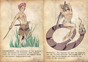 Philippine Mythology: Lakambakod(A) at Bathala (B) by binibinieyebagsToTZ