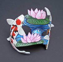 Koi Pond Mask by merimask
