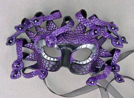 Purple Medusa Mask by merimask