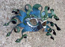 Teal Medusa Mask by merimask