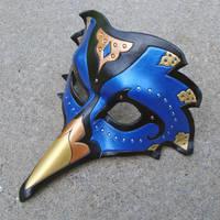 Persian Raven Mask--Blue by merimask