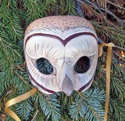 Barn Owl Leather Mask by merimask