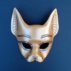 Golden Bast Mask by merimask