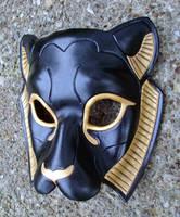 Black Sekmeht Leather Mask by merimask