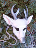 White Stag Leather Mask by merimask