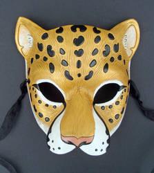 Golden Jaguar Leather Mask by merimask