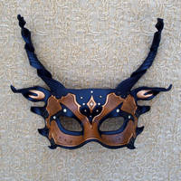 Brown and Bronze Dragon Mask by merimask