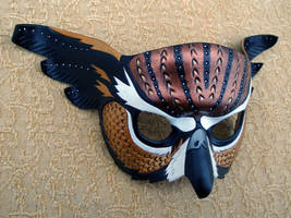 Fantasy Owl Leather Mask by merimask