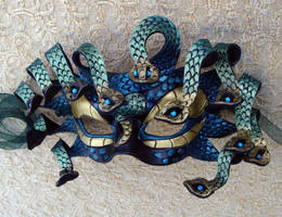 Green Gold Medusa Mask by merimask