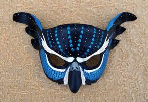 Blue Fantasy Owl Mask by merimask
