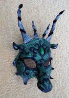 Green Black Dragon by merimask