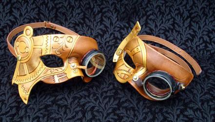 Vintage Goggle Steampunk Masks by merimask