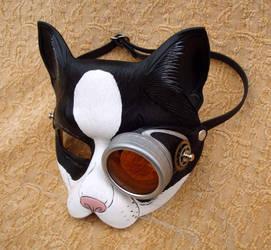 Peeping Tom Monocle Cat Mask by merimask