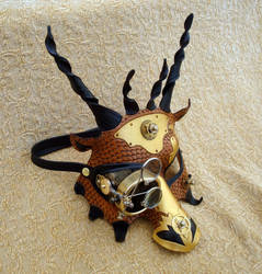 Draco Temporis V1 dragon mask by merimask