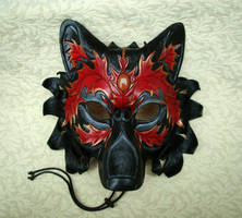 Autumn Goldstone Wolf Mask by merimask