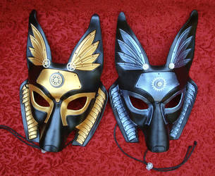 Two Industrial Anubis Masks by merimask