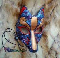 Galactic Kitsune Mask by merimask